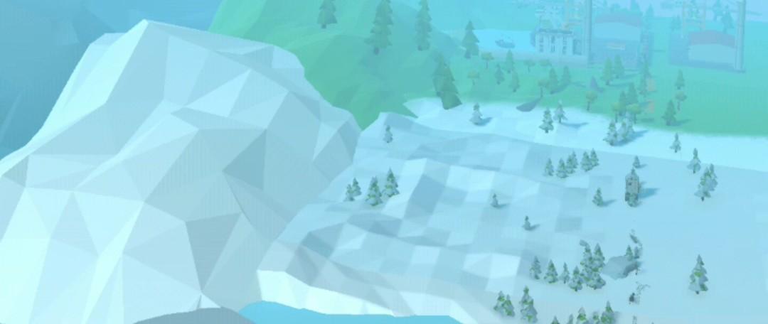 ジェットパックジャンプ雪原